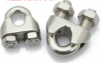 Wholesale Stainless steel wire rope clip clamp stainless steel clamp u shaped clip wire clip