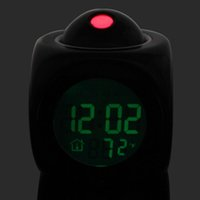 Cheap Electronic 2014 Clocks Weather Station LCD Digital Talking Alarm Clock Thermometer C F Desktop Table Despertador