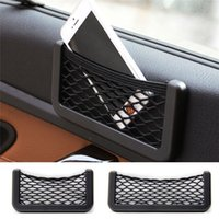 polypropylene bags - New Arrivals Car Seat Side Net Bag Interior Accessories Phone Holder Storage Elastic Net And Polypropylene Size S L CX299