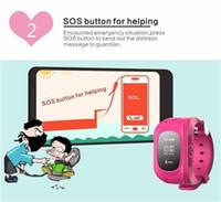 achat en gros de poignet suivi de la montre-Smart Wrist Watch GPS Tracking Device pour enfants avec LBS SOS Remote Monitor Kid téléphone montre-bracelet Montres-bracelets intelligents Enfants GPS Watch
