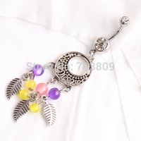 bell coin - Fashion Belly Button Ring Charm Stainless Steel Sexy Silver Coin Navel Body Piercing Jewelry