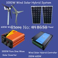 Wholesale 1000w wind power generator w wind turbine solar panel w w pure sine wave inverter w wind solar hybrid controller