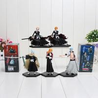Wholesale 5pcs Set th Generation Kurosaki Ichigo Bleach Action Figure Anime Model Toy Matsumoto Rangiku Decoration Gift