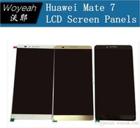 Wholesale Brand Original New LCD Display Screen Touch Digiziter For Huawei Ascend Mate lcd White Gold Black