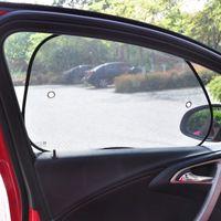 Wholesale 1 pair Car Styling Car Sun Shade Black Mesh Visor Rear Window Oblique Block Car Side Window Solar Protection