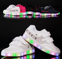 Wholesale New Style Brand Children Shoes Baby Shoes Spring Kids Sneakers Baby Boys Girls Stylish LED Light Luminous Child Sports USB Shoes J4558