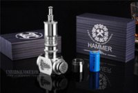 Cheap Hot Sale E cigarette Hammer mod Pure stainless steel big vapor hammer mod Kits With Taifun Atomizer 18350-18650 battery X8128