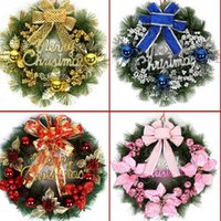 christmas wreath ring - 30CM Christmas Tree Wreath christmas decoration gift garland hangings red christmas wreath ring base door hanging garishness decorations C38