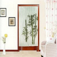 bamboo curtain - Chinese Green Good Luck Bamboo Pattern Green Japanese Noren Curtain Doorway Curtain