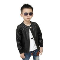 kids leather jackets - Quick only to Russia RETAIL new models boy PU Jacket Kids Leather Coat Children Motorcycle Coat