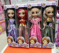 baby dolls shoes - Hot Sles cm Retail Girl s Princess Sofia The First Dress and Shoes Doll Toy New In Box Styles For Children Christmas Gift