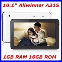 Wholesale 10 inch allwinner A31S Google quad core tablet PC android Tablet pc G RAM GB GB GB ROM bluetooth HDMI dual camera mah battery