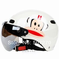 b w motorcycle - B Taiwan quot EVO quot New ABS OFF Road Casco Half Face Helm Motorcycle quot Monkey quot White Helmet amp UV quot W