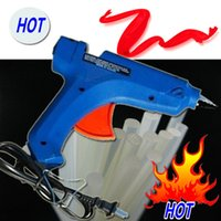 Wholesale Brand new Art Craft Repair Tool W Electric Heating Hot Melt Glue Gun Sticks Trigger