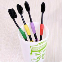Wholesale Hot Sale New Double Ultra Soft Toothbrush Bamboo Tooth Brush Charcoal Nano Brush Oral Care PTSP for