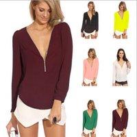 Cheap plus size chiffon blouse Best long sleeve chiffon blous