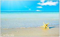 Cheap Top Quality Large Realistic Landscape Oil Painting Starfish Beach Modern Wall Canvas Art Prints Cool Home Decor Hot Sale
