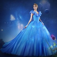 Wholesale 2015 Vestido Debutante Princesas Light Blue Organza Ball Gowns Quinceanera Dresses Cap Sleeves V neck Corset Evening Party Gown Custom Made