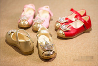 Wholesale Crystal diamond PU soft shoes girl aged magic spring autumn baby casual shoes children shoes student pair B1
