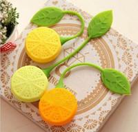 Wholesale Silicone Teabag Tea Strainer Infuser Teapot Teacup Filter Bag Lemon Style Hot Sales Fast shipment