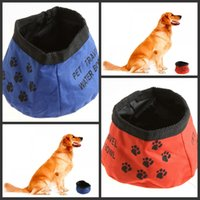 Wholesale Pet Dog Cat Portable Collapsible Foldable Camping Travel Bowl Water Food Feeder Dropshipping