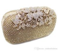 Wholesale 2016 Cheap Fashion Wedding Bridal Money Bags Bling Diamond Evening Clutch Women Evening Bags Black Silver Gold Handbags Messenger Bags MYF74