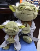 Wholesale 10pcs Star Wars Master Yoda Plush Toy cm The Wisdom Of The Old Man Stuffed Dolls Cute Plush Toy Children Gifts