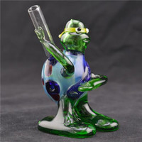 Wholesale Smoking Pipes Ninja Turtle Style Pipes Glass Hand Pipe Glass Water Pipes Smoking Hookahs Portable Glass Bongs Heady Pipes for Smoking