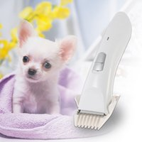 Wholesale Low Noise Cat Hair Clipper - cachorro chien Low Noise Electric Rechargeable Pet Dog Cat Clipper Hair Trimmer Hair Cutter Shaver Hairdressing Grooming Tool DHL H16593