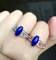 afghanistan lapis - S925 rose gold white gold plated the old Afghanistan materials lapis lazuli adjustic ring fashion new jewelry by epacket