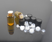 Wholesale 10pcs ml Amber Small Glass Bottles Vials container with Reducer and Screw lid Screw vials NEW EMPTY