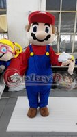 Wholesale Super Mario Costume Make - Wholesale-Super Mario Adult Unisex Cartoon Mascot Costume Outfit Unisex Costume Custom Made