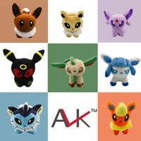 Wholesale Cheap Pokemon Plush Toys Umbreon Eevee Espeon Jolteon Vaporeon Flareon Glaceon Leafeon Animals Soft Stuffed Dolls Toddler Toys Styles