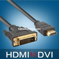 Wholesale 1M HDMI to DVI DVI D Pin Cable Cord P for HDTV DVD HD PC PS3 XBOX MB L0192553