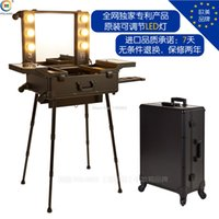 adjustable trolley - Shadows Arma Nail Polish Professional Polaiao Belt With Lights Mirror Cosmetic Box Adjustable Light Led Mount Trolley Luggage