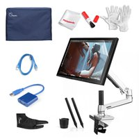 Wholesale Pens UGEE UG B Kit quot Art Graphic DigitalTablet LCD Monitor DrawingTablet Desk Mount Protector Cove Glove USB Cable