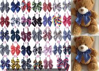 Wholesale 2016 New Dog Bowties Mix Patterns Colors Polyester Pet Dog Bowties Adjustable Pet Dog Neckties