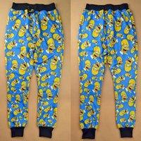 Wholesale New fashion men womens hip hop joggers pants D Harajuku print cartoon the Simpsons skinny jogging running sport sweatpants