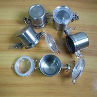 Wholesale Dining Bar Home Kitchen Storage Organization cm Mini Coffee Beans Powder Peanut Stainless Steel Storage Jars