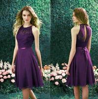 Cheap Purple Bridesmaid Dresses Best A-line Halter Formal Dress