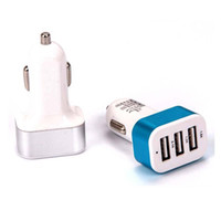 Wholesale 1 PC Triple USB Universal Car Charger Adapter Port A A A For iPhone Samsung