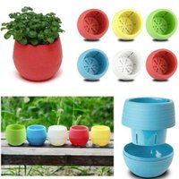 Wholesale 2016 Desk Mini Round Flower Plant Pot Planters Home Office Garden Decor Flowerpot New