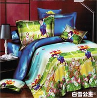 best sheet fabric - Best Quality D Bedclothes Bedding Sets King Queen PC Comforter Cover PC Bed sheet Pillow Covers Snow Princess