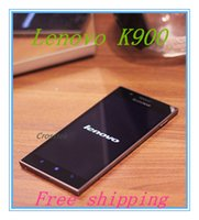 Cheap New Arrival Free Shipping 5.5 Inch Intel Atom Z2580 Android 4.2 Lenovo k900 Mobile Phone gps wifi