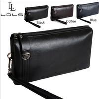 Nouveaux hommes d'affaires 2014Luxury hommes Walllet sac d'embrayage en cuir véritable, sacs à main embrayages Livraison gratuite
