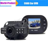 Wholesale Full HD C600 Mini P Car DVR Carro Coche Digital Camera Video Recorder Dash Cam Dashboard car dvr Camcorder in stock hot sell C