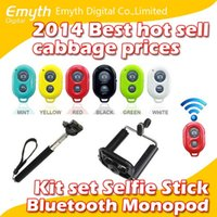 android camera settings - Bluetooth Remote Shutter Phone Clip Camera mobil phone Monopod For iPhone Samsung Android and IOS phones in kit set with retail box