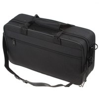 Wholesale 2015 hot product Black Portable Lightweight Clarinet Cloth Box with Shoulder Strap Carry Handle MIA_639
