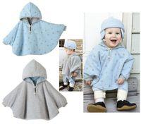 Wholesale Baby Hoodie Poncho Coat Bohemian Style Uniex Infant Reversible Outerwear Cape Blouse