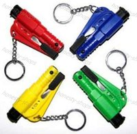 Wholesale 3 in Car Emergency Safety Hammer Seat Belt Cutter Glass Window Breaker Car life saver SOS Whistle